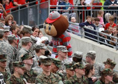 Brutus Greets the Troops